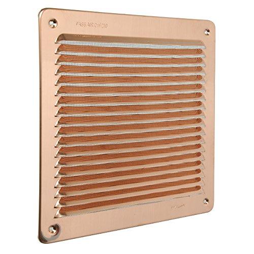 rectangulaire /à superposer avec filet anti-insectes La Ventilazione GRA30R Grille de ventilation en cuivre dimensions 340 x 140 mm