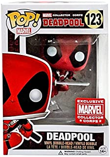 Funko POP! Marvel Collector Corps Vinyl Bobble-Head Figure - Deadpool (Leaping) Exclusive