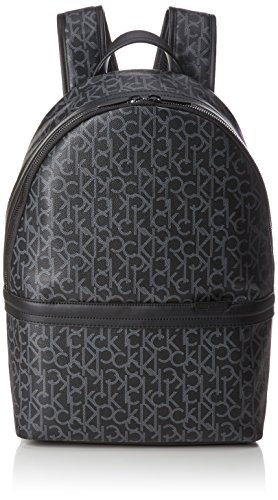 Calvin Klein Greg Mono Backpack - Zaini Uomo, Nero (Black), 19x32x46 cm (B x H x T)