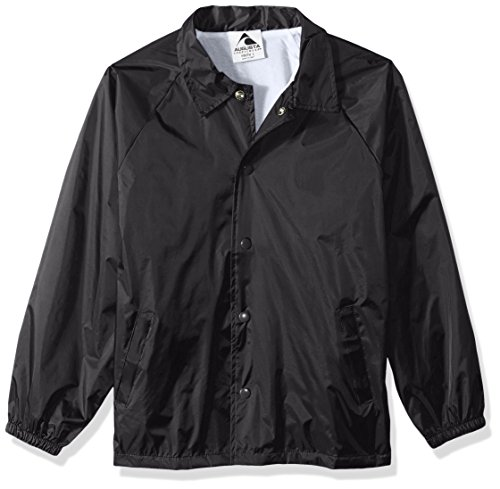Augusta Sportswear Kids' Augusta Youth Nylon Coaches Jacket, Black, Large