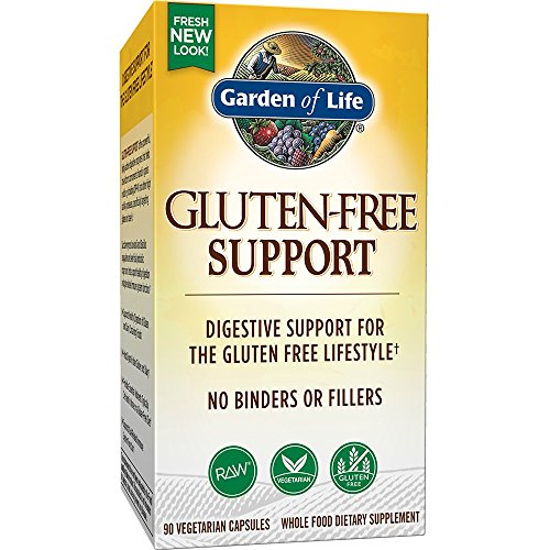 Garden of Life Gluten Free Support - Vegetarian Digestive Enzymes for Gluten and Dairy Support, 90 Capsules