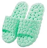 Happy Lily Morbide pantofole antiscivolo ad asciugatura rapida per bagno, doccia, spiaggia piscina, Helloshowerslippersgreen36-37, green, 235mm(uk w4.5-5)/eu36-37
