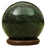 Reikiera Giada Verde Sfera Sfera Di Pietra Con L'Anello Basamento Del Aura Balancing Cristallo Reiki Guarigione- Scegli Taglia