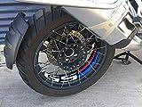 Uniracing 46844 Kit Rim Decorazione R1200GS 06-'18 e BMW R1250GS Adventure, Nero Motorsport