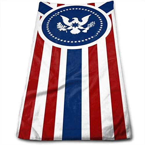 wteqofy USA Flag Bath Hand Towels Dish Cloth Machine Washable Kitchen Towels Tea Towels for Drying Cleaning Cooking Baking
