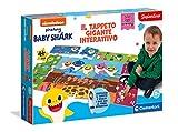 Clementoni-Sapientino – Alfombra Gigante interactiva – Baby Shark – Puzzle para niños – Juego Quiz (versión en Italiano) – Made in Italy, 3 años + (16281)