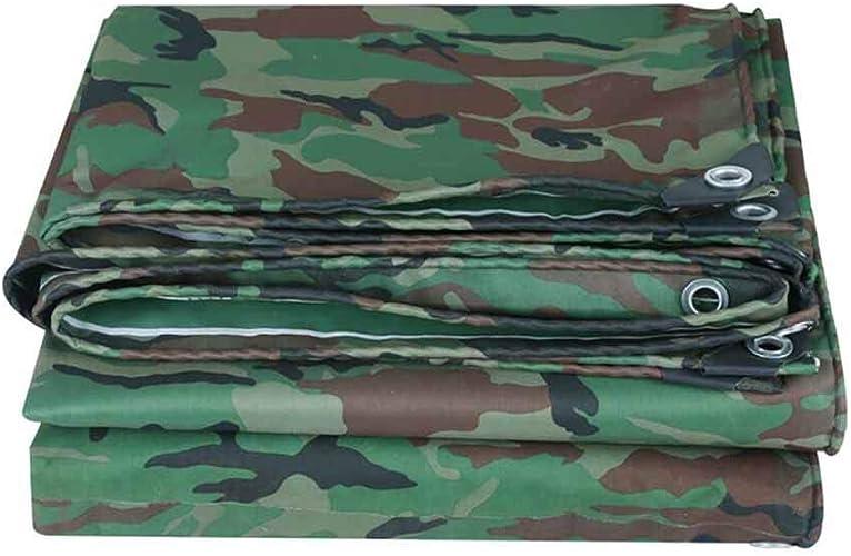 DJSMpb Baches Toile Oxford de Camouflage Anti-Pluie Toile de Prougeection Contre Le Soleil imperméable Camping Pique-Nique bache en PVC (Taille   5x6m)