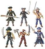 YIJIAOYUN 6 Stück Actionfigur Piraten Spielzeug mit Waffe / Meer Rover Sea Krieger Figuren Spielsets (je 3,75 'groß)