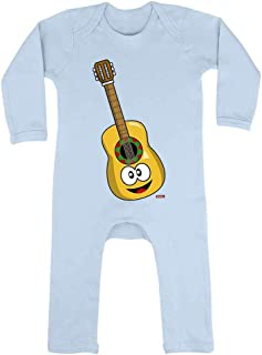HARIZ HARIZ Baby Strampler Gitarre Lachend Instrument Kind Lustig Plus Geschenkkarten Himmel Hell Blau 3-6 Monate