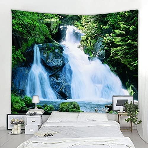 Tapiz de decoración de cascada de paisaje natural 3D, manta Art Deco, tela de fondo, tela colgante A7 150x200cm