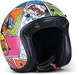 Rebel Helmets Casque de moto Multicolore Taille M (57-58 cm)