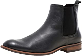 JUMP NEWYORK Men`s Lawson Plain Toe Leather Chelsea Boot