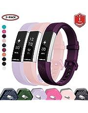 FunBand Compatibel met armband Fitbit Alta/Alta HR, klassiek verstelbaar, vervangbaar, zacht silicone, sporty polsband, polshorlogeband, polsband, horlogeband, lus, armbanden voor Fitbit Alta HR en Alta