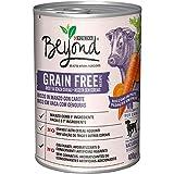 Purina Beyond - Humido para Perro Grain Free Boquillas de Paté con Ternera, Zanahorias, 12 latas de 400 g Cada uno, 12 Unidades de 400 g