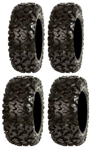 Full set of Sedona Rip Saw 25x8-12 and 25x10-12 ATV Tires (4)