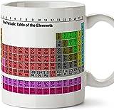 Tazze di prima colazione per dare ai chimici - Tavola periodica - Tabella degli elementi periodici