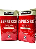 (Pack of 2) Kirkland Signature Dark Roast ESPRESSO BLEND Coffee Roasted By Starbucks 32 Oz. Bag