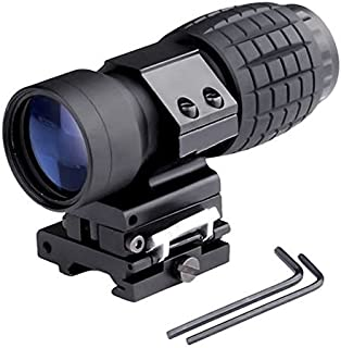 WIngots Tactical 3X Magnifier Scope Sight with Flip to Side 20mm Rail Mount Scopes Fit for 551 552 553G for Hunting Shooting
