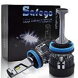 Safego H11 車検対応 LED 車用 電球 キット H8 H9 ヘッドライト 一体型 60W(30Wx2) 10000ルーメン 高輝度 LED チップ搭載 LEDバルブ 変換 キット 12v 置き換 車 ハロゲン ライト HID 電球 MiniHL-H8911