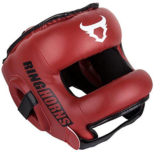 Ringhorns Nitro Cascos de Boxeo, Unisex Adulto, Rojo, Talla única
