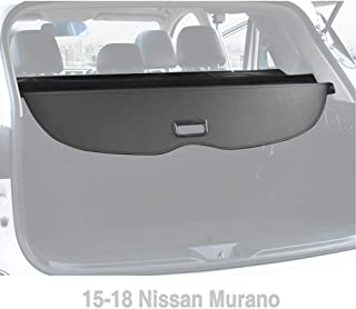 Yeeoy Cargo Cover Black Retractable Cover Custom Fits 2015-2018 Nissan Murano Trunk Shielding Cover