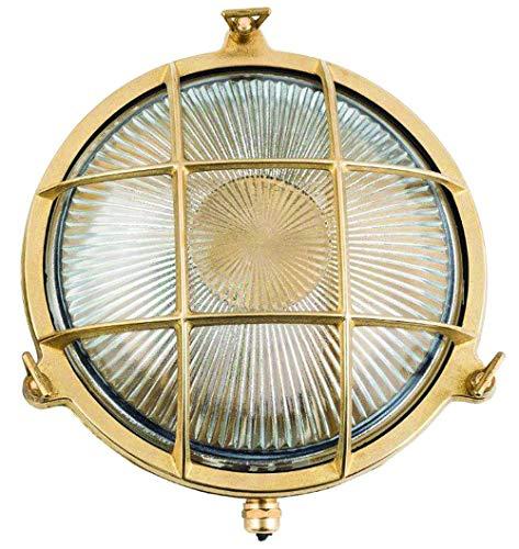 Aplique lámpara náutica en latón para pared
