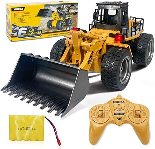 Remote Control Bulldozer Toys 1 16 Hobby RC Trucks Caterpillar Aluminum Alloy Rc Front Loader product image