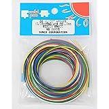 サンコー電商 UL1007 耐熱ビニル絶縁電線 黒白赤黄緑青 各2m AWG28 2m <6色> UL1007 AWG-28 2m X 6色