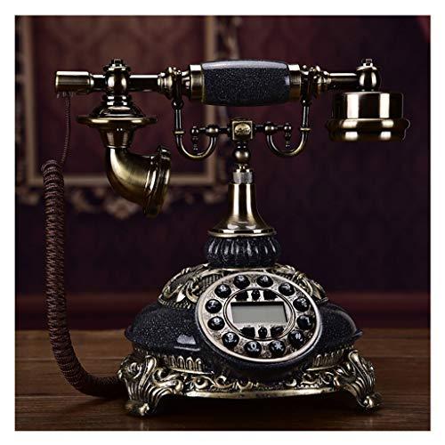 gujiu Antiguo Código Teléfono Retro Teléfono FSK/DTMF ID de remitente Detección automática Calendario electrónico/con Fecha/Mostrar Reloj Teléfono Fijo Europeo para Home Hotel Office Decoration