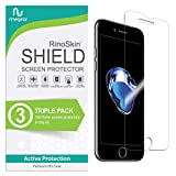 (3-Pack) RinoGear Screen Protector for iPhone SE 2020, 8, 7 Case Friendly iPhone SE 2nd Generation, 8, 7 Screen Protector Accessory Full Coverage Clear Film