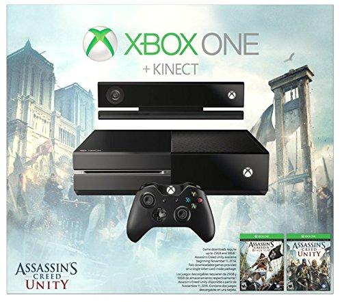 Microsoft Uno de Xbox con Kinect: Credo Unidad paquete de asesino, 500 GB de disco duro: Amazon.es: Videojuegos