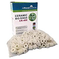 Porous ceramic bio-ring for fish tank filter Provides more air surface for bacterial developing Helps decompose ammonia and nitrate efficiently The ceramic material can stand any chemical reaction Good for both fresh and salt water tanks