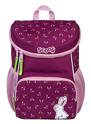 Scooli Kindergartenrucksack mit Brustgurt für Mädchen I Ergonomischer Vorschulrucksack für die Kita I viel Stauraum geringes Gewicht, Hase ROSI pink