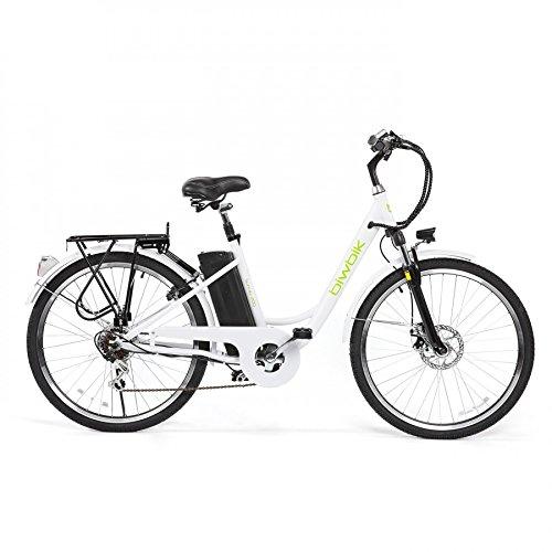 Bicicleta ELECTRICA Mod. Sunray 200 BATERIA Ion Litio 36V10AH Blanca