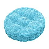 HomeMiYN Round Seat Cushions, EPE Foam Filled Indoor Chair Pad Cushions for Home, Office, Dining, Kitchen, Blue, 17.7'' x 17.7''