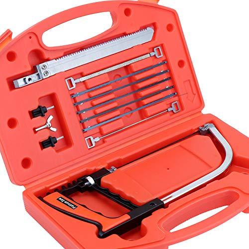 Hseamall Lot de 13 scies à métaux en métal, pour carrelage, bois, scies, archet, 30,5 cm, outils de travail du bois pour plastique, verre, carrelage, métal, céramique