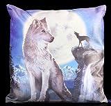 Nemesis Now - Cojín, diseño de lobo y luna