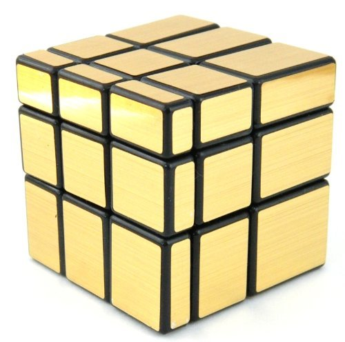 Lychee Miroir blocs Noir brillant Cadre Magic Cube Puzzle Brain Teaser