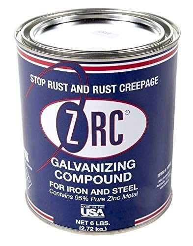 ZRC 10002 Cold Galvanizing Compound   Single Quart   Iron and Steel Corrosion Protection   Matches Hot-Dip Galvanized Performance   Contains 95-Percent Metallic Zinc