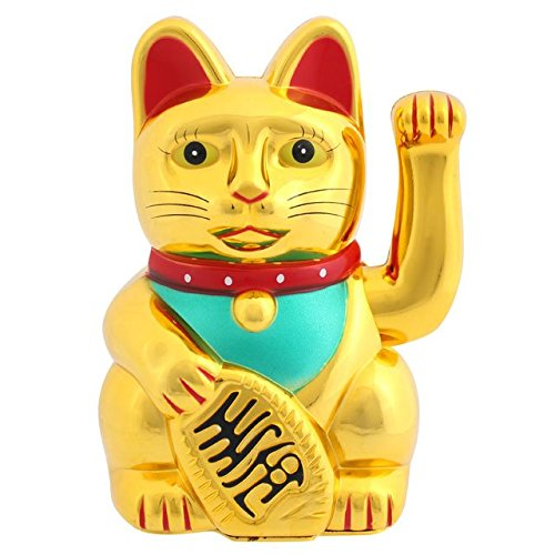 Jones casa Regalo Salvadanaio e Oro a Forma di Gatto, Multicolore