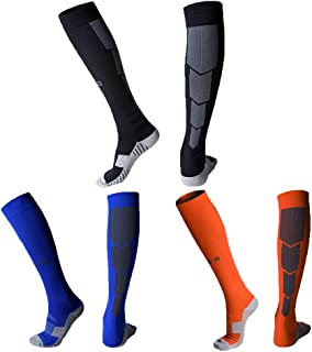 Quickshark Knee High Soccer Socks, Elite Performance Cushion Athletic Socks 1/3/5 Packs