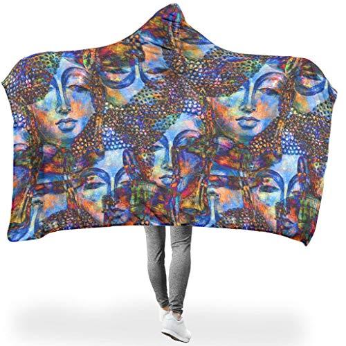 NiTIAN Face Energy Indian PersonalityTapisserie Hooded Throw Wrap Ultra Weich Und Warm Bequemes Schlafdecke Winter Fleecedecke Für Erwachsene Und Kinder White 150x200cm