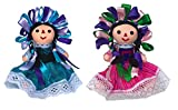 Mexican Handmade Traditional Rag Dolls 2 Pack...
