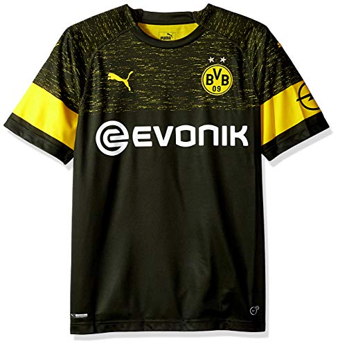 PUMA Herren BVB Away Shirt Replica with EVONIK Logo Hemd, F Schwarz, Small