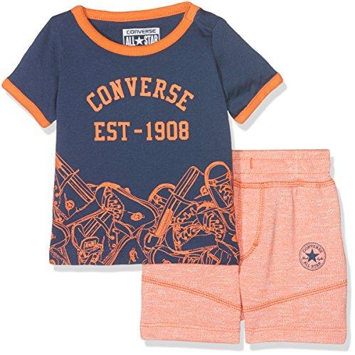 Converse Baby-Jungen Jogginganzug Sneaker Toss Tee Set, Orange (Wild Mango Marl N2L), 6-9 Monate