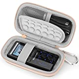 Estuche Funda para MP3/MP4 Reproductor Bluetooth,SUPEREYE/AGPTEK/Victure/IHOUMI/mibao/MYMAHDI de Caja,Portátil Cubrir de Tapa Dura Caso Bolso Protectora(Rose Gold)