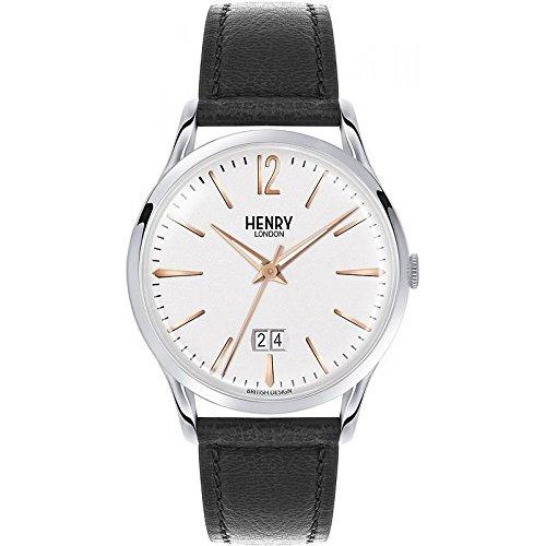 Henry Londres Hombre Reloj de Westminster slo el Tiempo Negro 41mm HL41-JS-0067