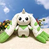 Digimon Adventure Terriermon Cosplay Long Ears Plush Doll Toy Gift 45Cm for Collection qianmianyuan