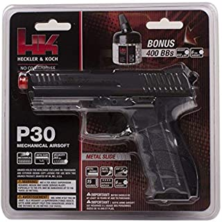 HK P30 6mm Airsoft Clear with Metal Slite