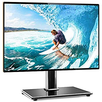 Rfiver Universal Table Top TV Stand TV Base Replacement for Most 27 30 32 39 40 42 43 49 50 55 inch LCD LED Plasma Flat Screen TVs Vesa Mount Holds up to 88lbs Height Adjustable and Cable Management